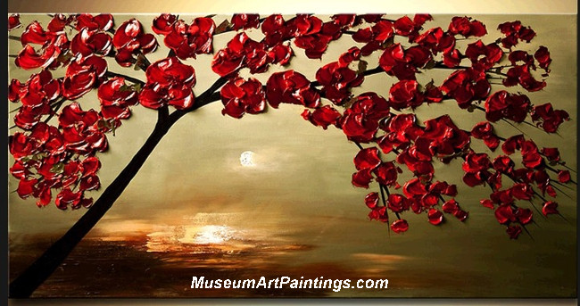 Palette Knife Painting Flower Tree 024