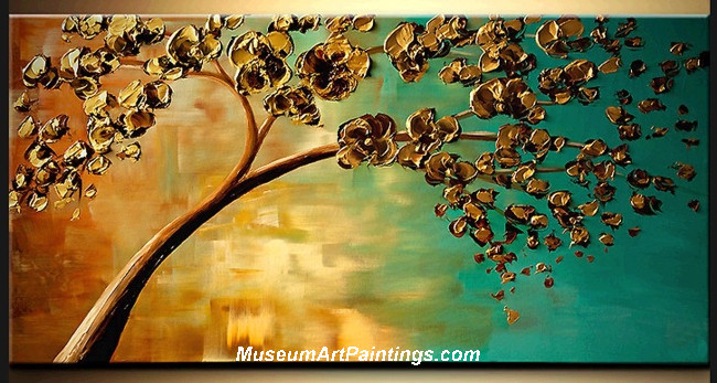 Palette Knife Painting Flower Tree 025