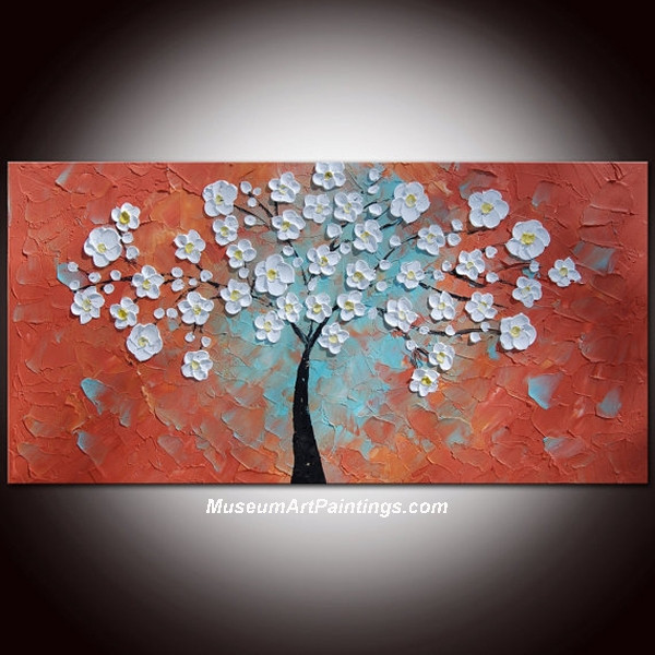 Palette Knife Painting Flower Tree 027
