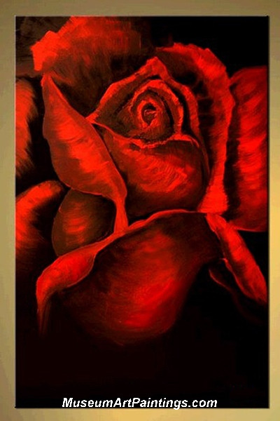Palette Knife Painting Rose 009