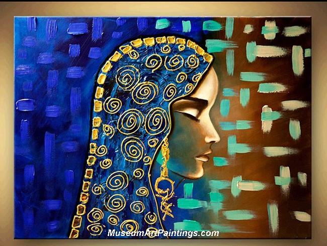 Palette Knife Painting Woman Portrait 005