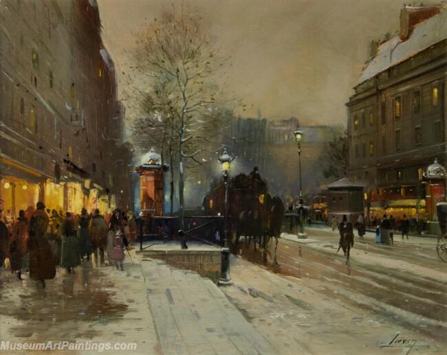 Paris Street Scenery Paintings by Eugene Galien Laloue EGL012