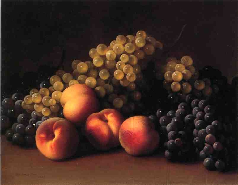 Peaches and Grapes by George Henry Hall