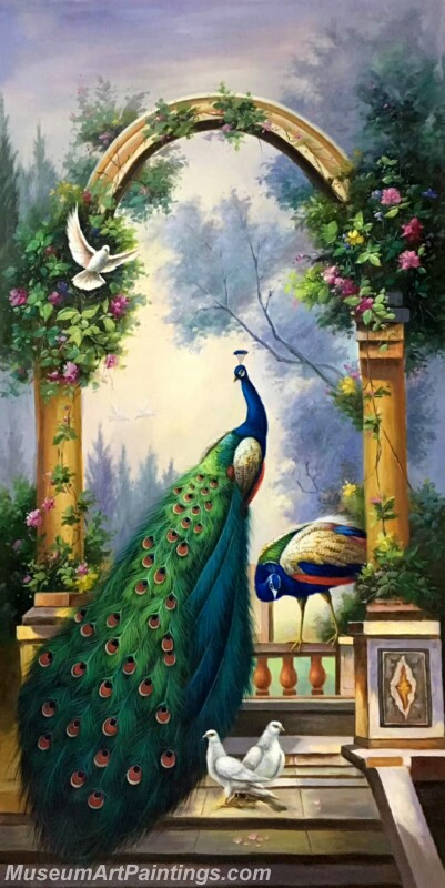 Peacock Oil Painting MA01