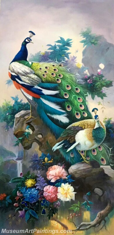 Peacock Oil Painting MA02