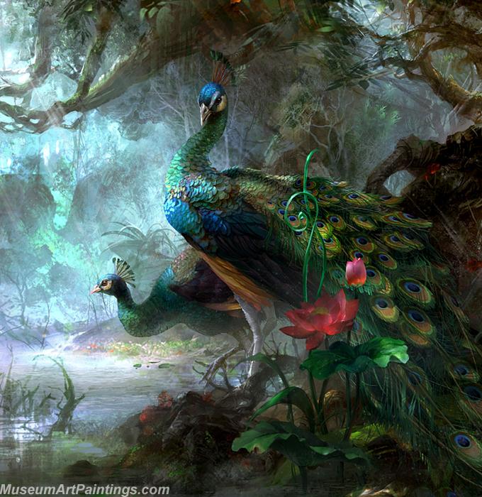Peacock Oil Paintings 010