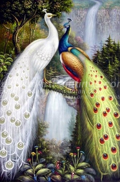 Peacock Oil Paintings 019