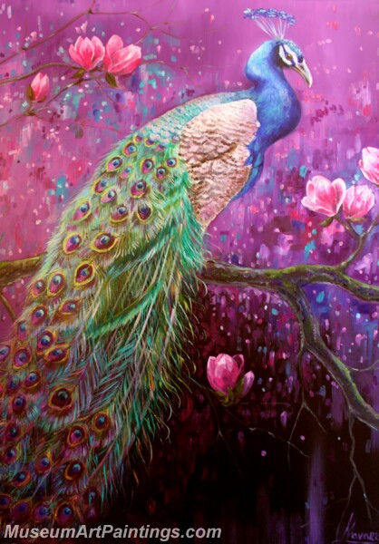 Peacock Oil Paintings PMP01