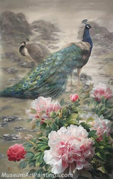 Peacock Oil Paintings PMP010