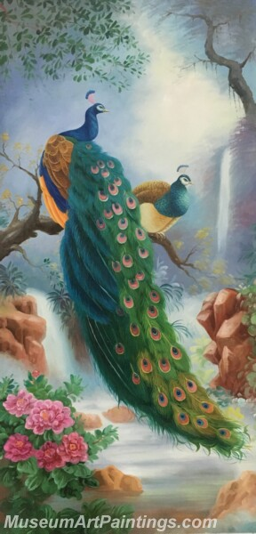 Peacock Oil Paintings PMP011