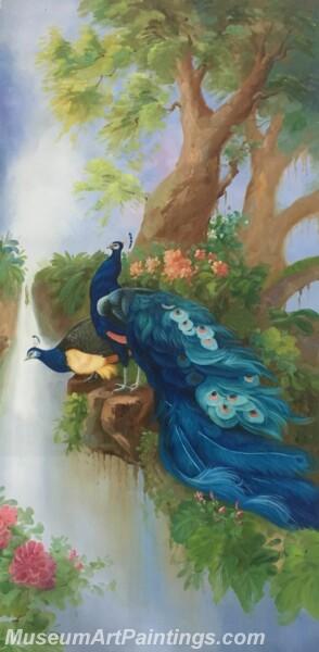 Peacock Oil Paintings PMP012