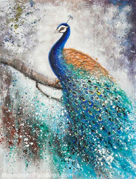 Peacock Oil Paintings PMP019