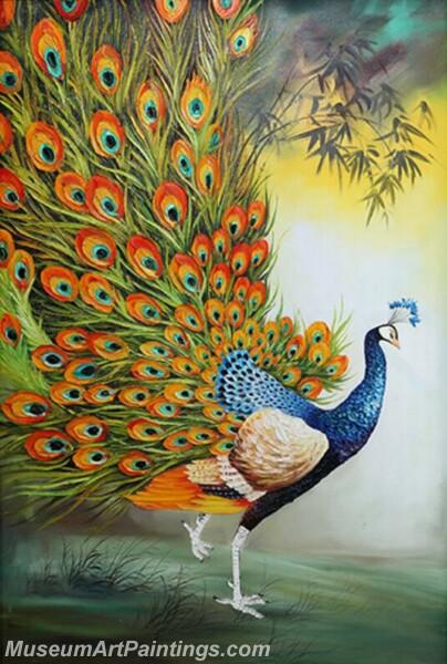 Peacock Oil Paintings PMP02