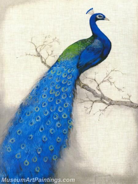 Peacock Oil Paintings PMP030