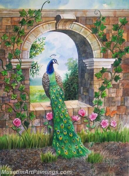 Peacock Oil Paintings PMP037