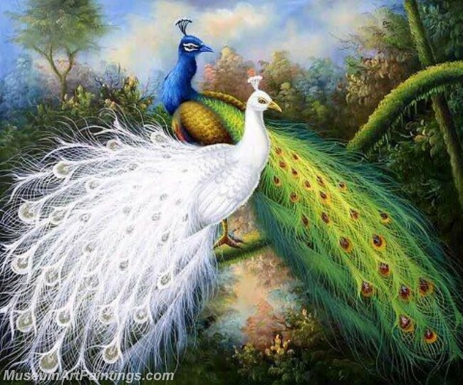 Peacock Oil Paintings PMP038