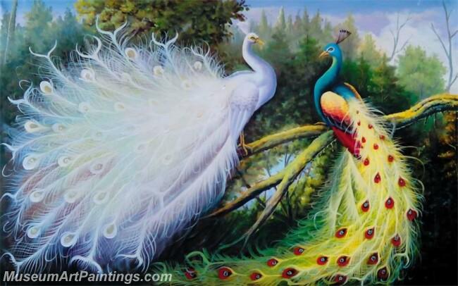 Peacock Oil Paintings PMP043