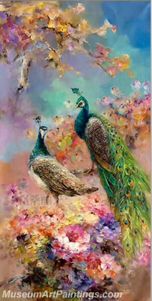 Peacock Oil Paintings PMP05
