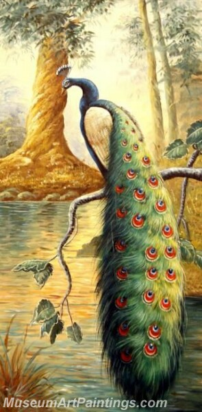 Peacock Oil Paintings PMP06