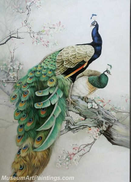 Peacock Oil Paintings PMP07