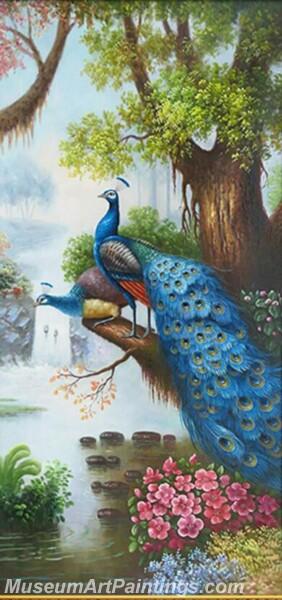 Peacock Oil Paintings PMP08