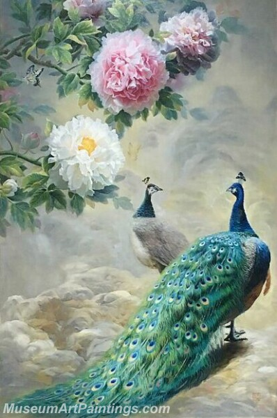 Peacock Oil Paintings PMP09
