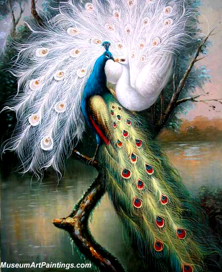 Peacock Paintings the Kiss