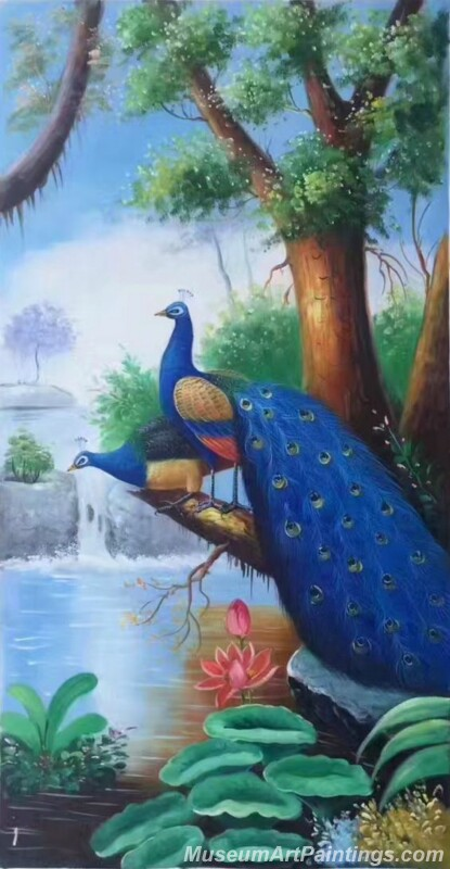 Peacocks Paintings for Sale PDM015