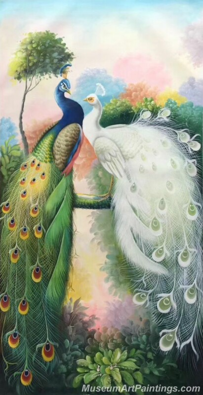 Peacocks Paintings for Sale PDM025
