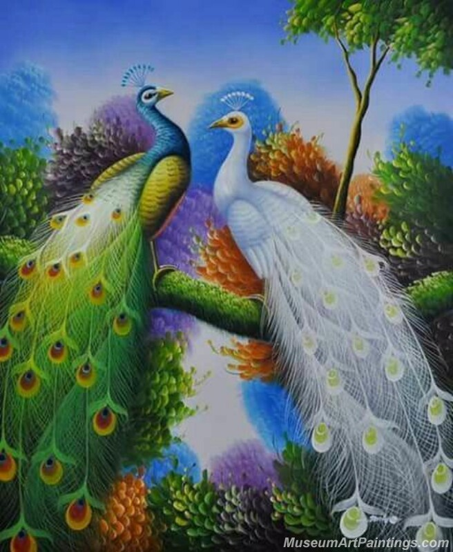 Peacocks Paintings for Sale PDM036