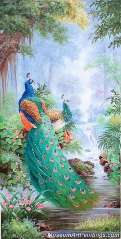 Peacocks Paintings for Sale PDM037