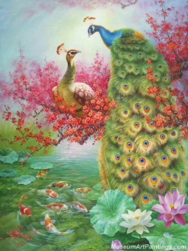 Peacocks Paintings for Sale PDM045