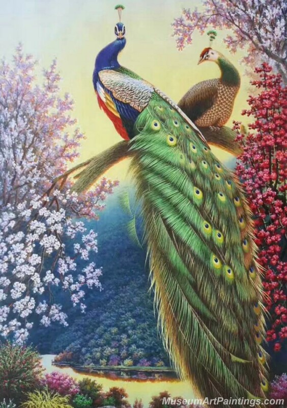 Peacocks Paintings for Sale PDM048