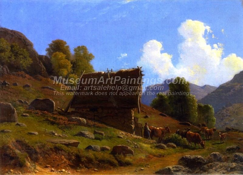 Peasants Hut by Knud Andreassen Baade