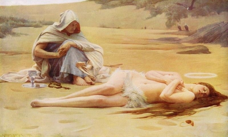Pelagia and Philammon by Arthur Hacker