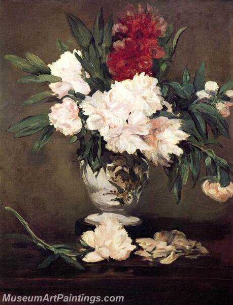 Peonies in a Vase on a Stand Painting