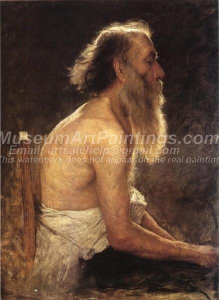 People Oil Paintings Half Length Figure Study
