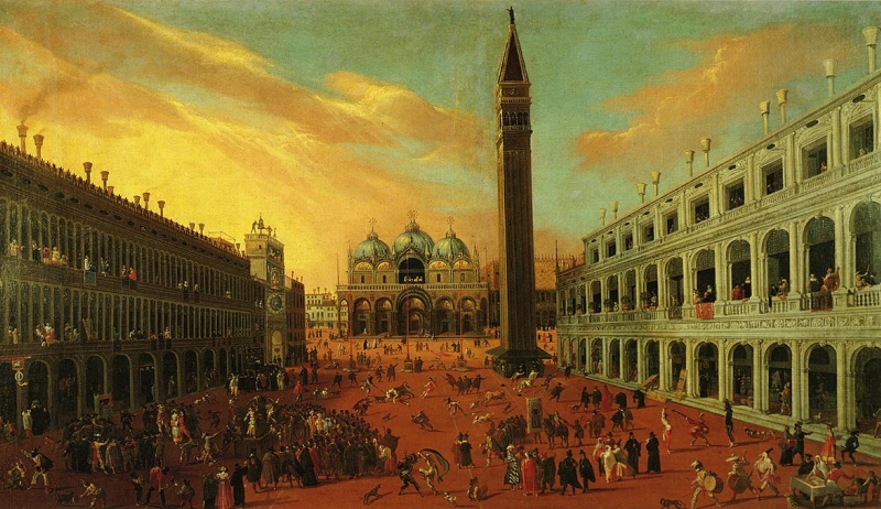 Piazza San Marco at Carnival Time