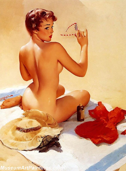 Pin Up Girl Paintings Shell Game