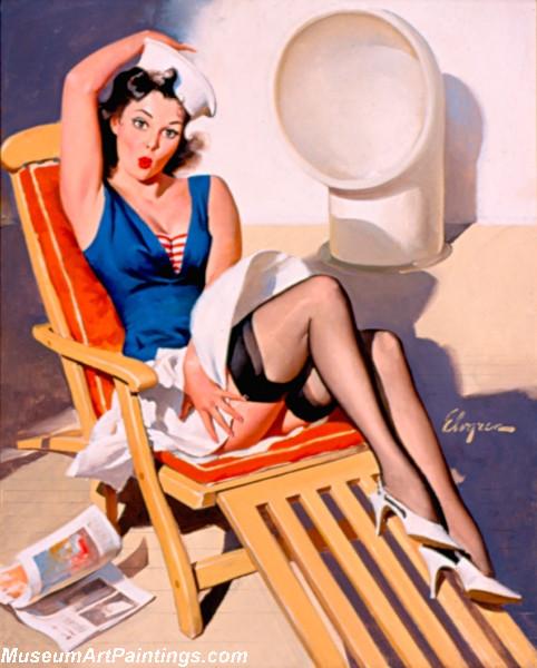 Pin Up Girl Paintings Skirts Ahoy