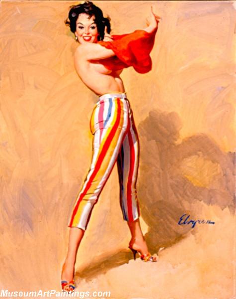 Pin Up Girl Paintings Swim Anyone