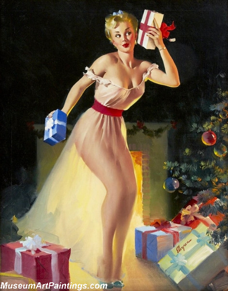 Pin Up Paintings A Christmas Eve