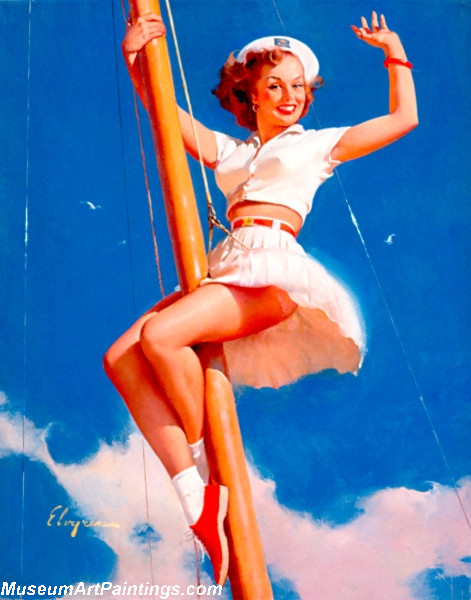 Pin Up Paintings Anchors A Wow