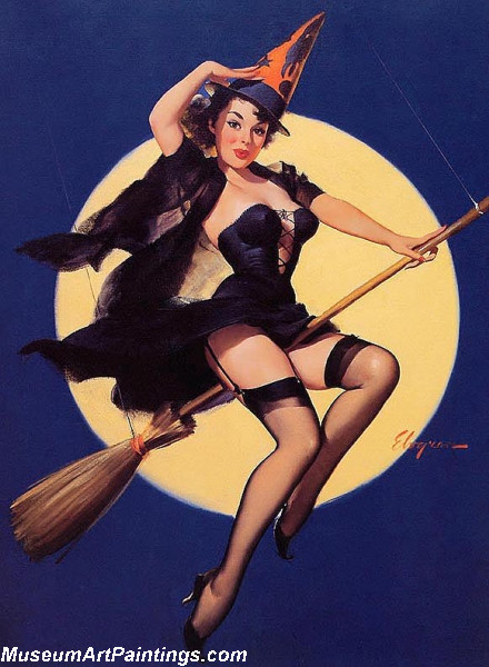 Pin Up Paintings Riding High