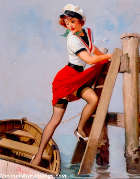 Pin Up Paintings Sailor Beware