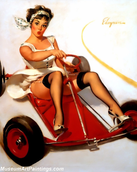 Pin Up Paintings Sharp Curves