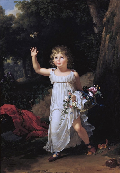Portrait of Edgar Clarke as a Child by Fabre