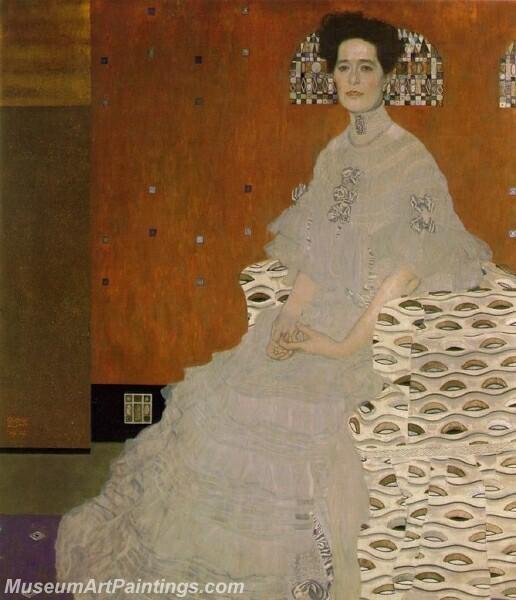 Portrait of Fritza Riedler Painting