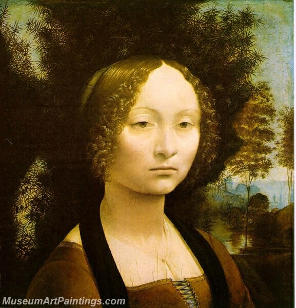 Portrait of Ginevra Benci Painting