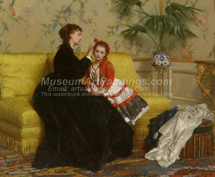 Preparing For The Ball by Gustave Leonard de Jonghe